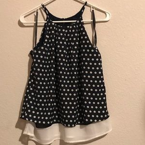 NWT Papaya Polka Dot Top